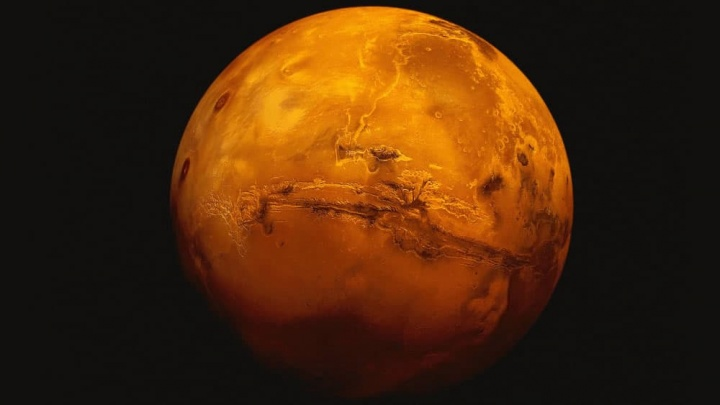 Imagem do planeta marte que poderá ter vida, segundo a NASA