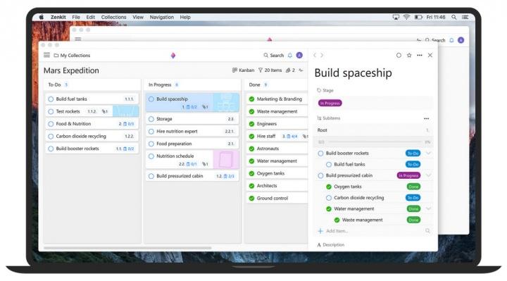 Zenkit reinventa o Kanban board e apresenta uma solução mais abrangente no seu serviço web