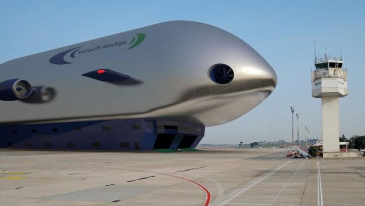 Imagem do novo Zepelim que quer ser a escolha de moderna aeronave a energia solar