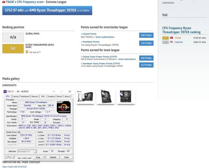 AMD Ryzen Threadripper 3970X recordes width=