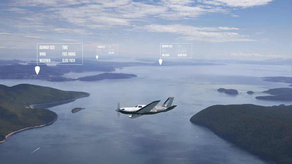 Garmin aviões autónoma aterra emergência