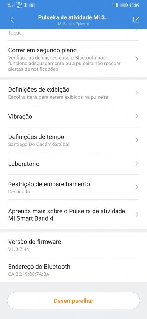 Mi Band 4 Xiaomi smartband português atualização