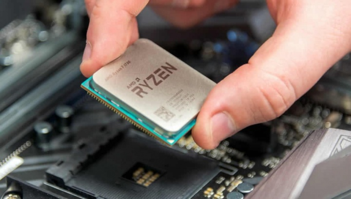Imagem dos processadores Ryzen da AMD