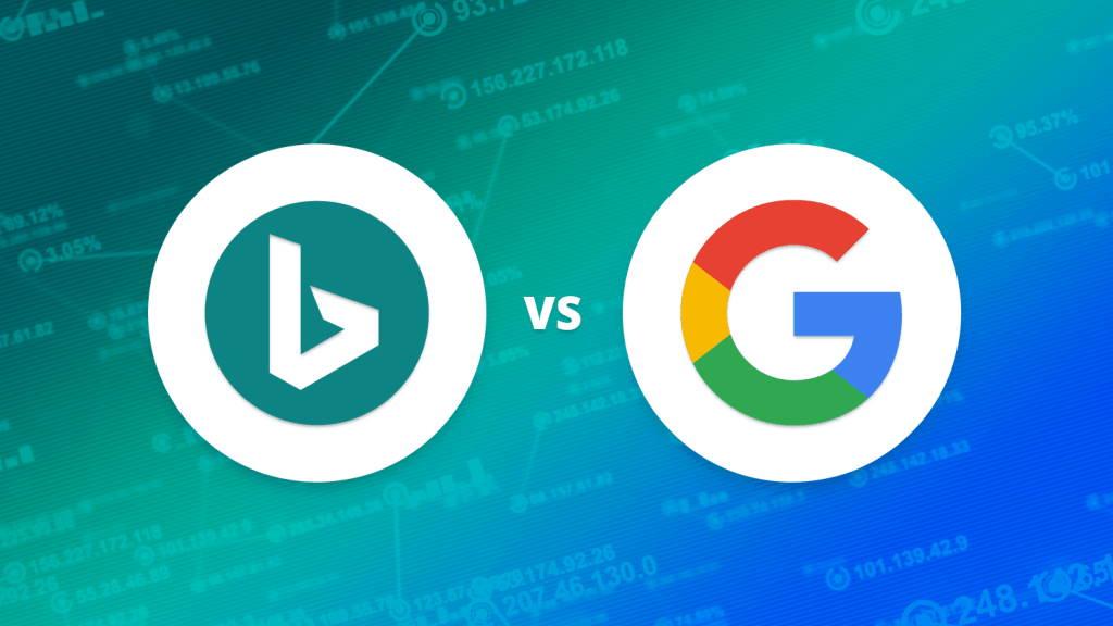 Bing Google procurada pesquisa motor