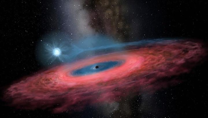 Imagem gráfica de um buraco negro colossal que não deveria existir