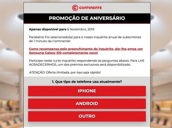 Alerta: Há uma SMS do Continente que é fraude! Saiba o que diz
