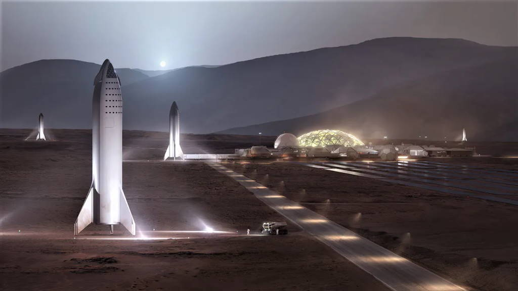 Elon Musk SpaceX Marte cidade Starship