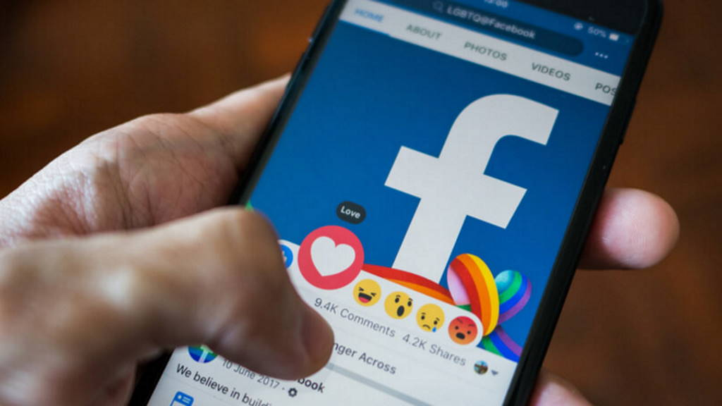 Facebook app Android interface funcionalidades