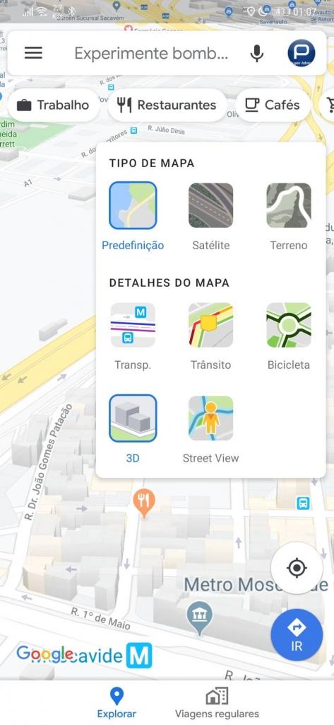 Google Maps 3D edifícios desempenho novidade