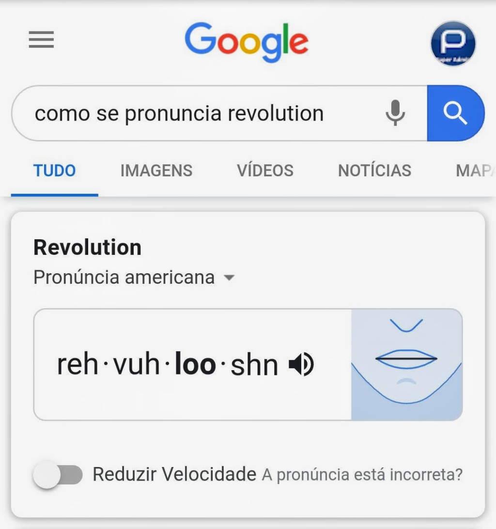 Google pronunciar palavra pesquisa ferramenta