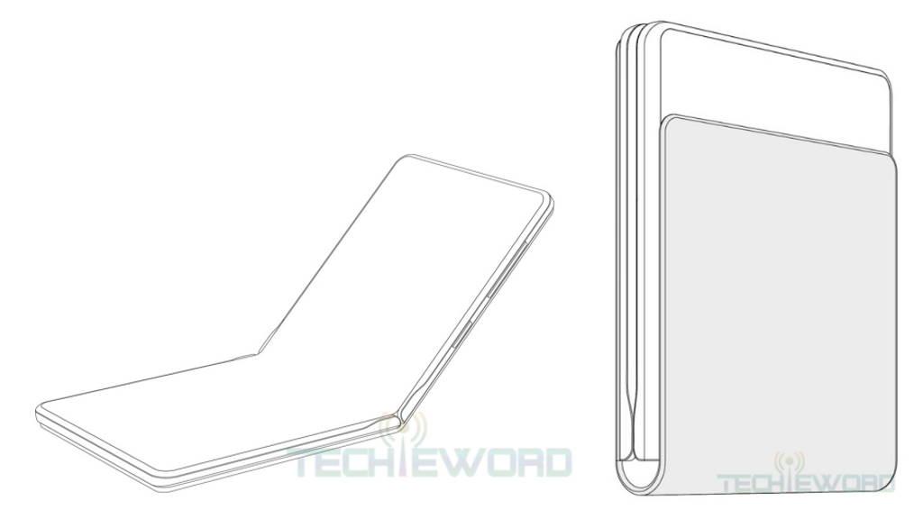 Huawei smartphone dobrável patente ecrã