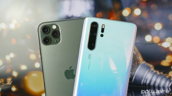 Apple Huawei Samsung topo gama