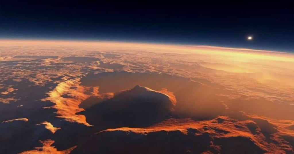 Imagem da cratera onde a NASA detetou dados estranhos sobre o oxigénio de Marte