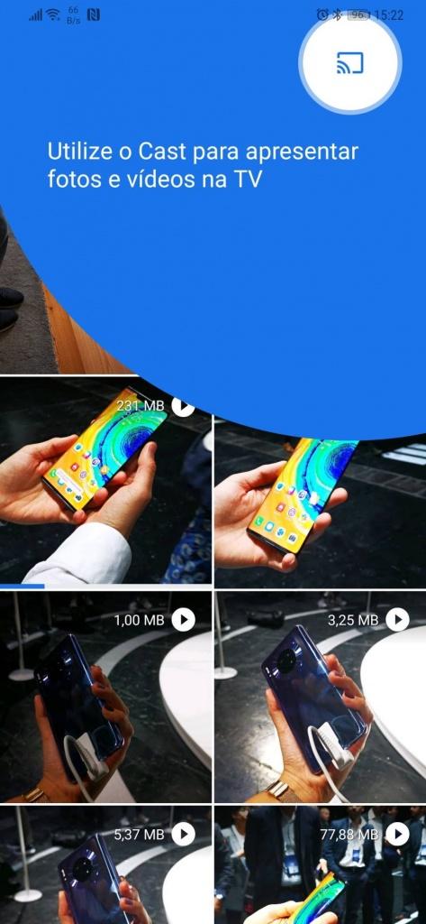 Files Google Chromecast ficheiros app
