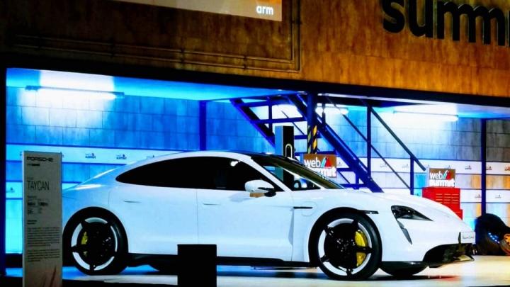 Bill Gates Elon Musk Porsche Taycan Tesla