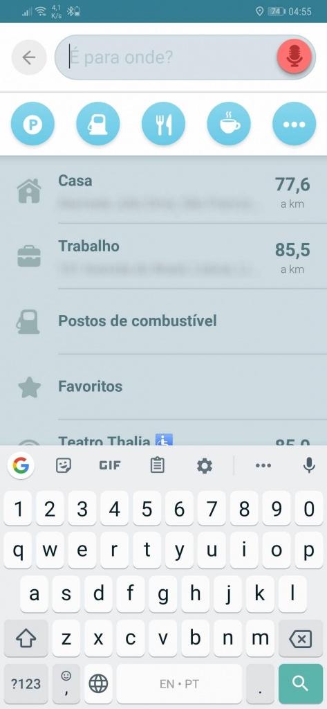 Waze modo offline poupar dados