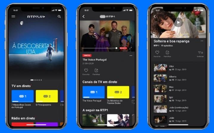 Nova app RTP Play: RTP1, RTP2, RTP3 e muito mais