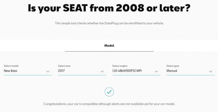 Tem um SEAT posterior a 2008? Marca está a oferecer DataPlug
