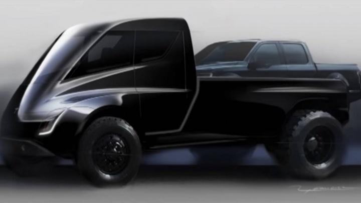 Tesla Cybertruck Elon Musk pickup
