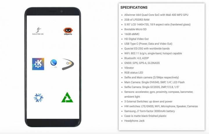 PinePhone: O smartphone open-source Linux está em pré-venda