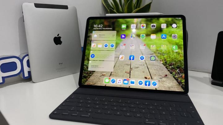 "Imagem iPad Original e iPad Pro 12.9"""