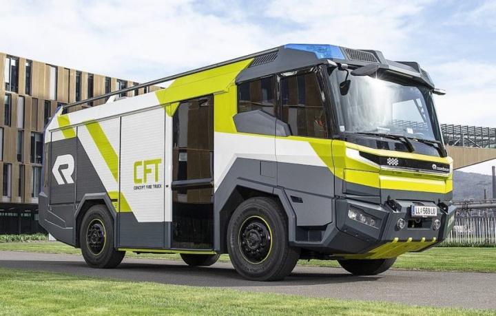Concept Fire Truck: O carro de bombeiros elétrico com 476 cavalos