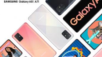 Samsung anuncia os modelos Galaxy A51 e Galaxy A71 com quatro câmaras traseiras