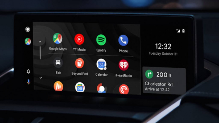 Android Auto apps ecrã Google