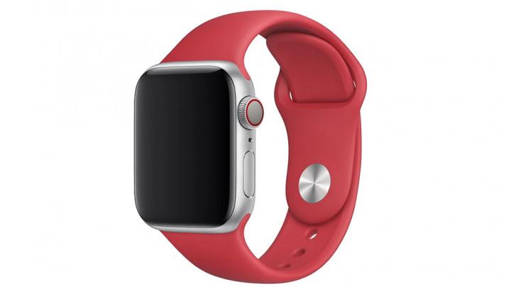 Imagem Apple Watch Series 5 com bracelete (PRODUCT)RED