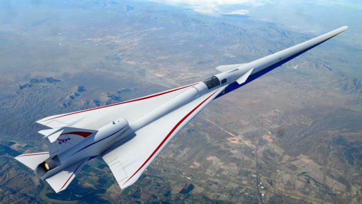 Imagem avião supersónico da NASA