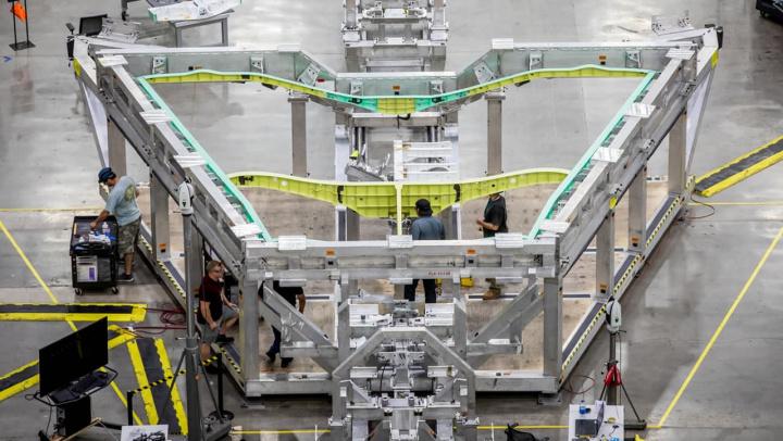 Imagem da montagem do X-59