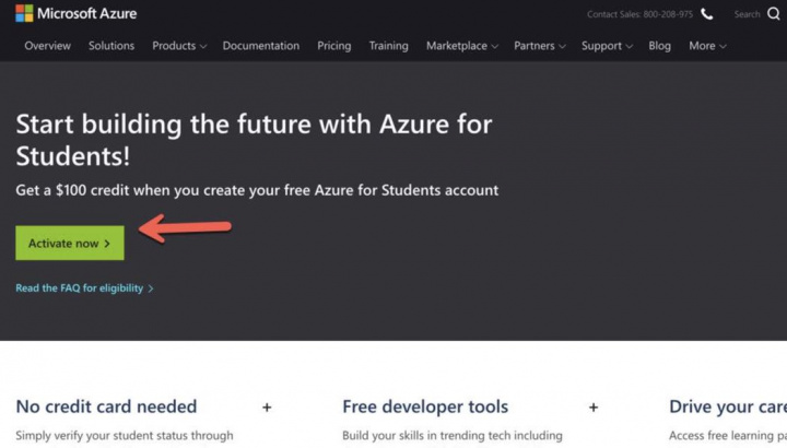 Are you a student? Microsoft Azure has $ 100 to offer you