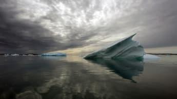Imagem degelo dos glaciares no Alasca mostrado pela NASA