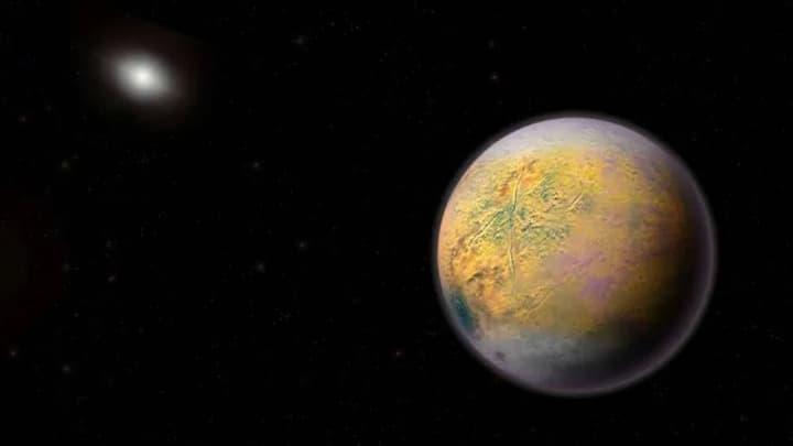 Imagem ilustração de exoplaneta que poderá ter fosfina e vida alienígena
