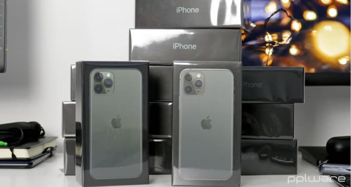 Imagem iPhone 11 Pro Max. Smartphone premium da Apple