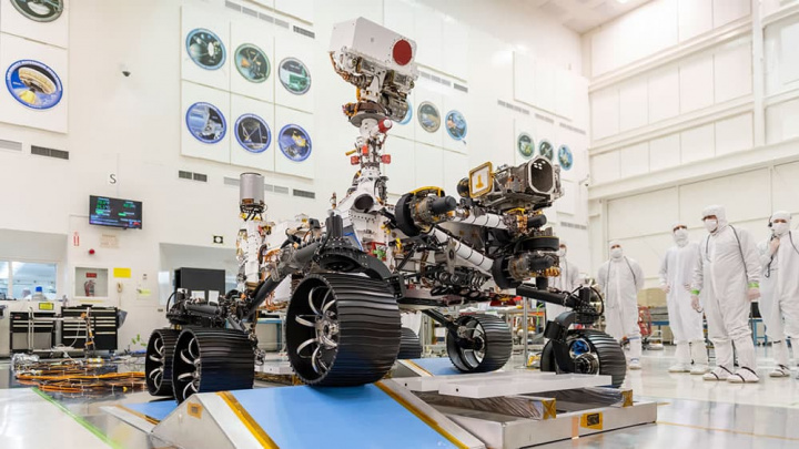 Imagem rover da NASA Mars 2020 para missão a Marte