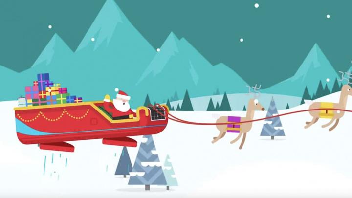 O Google mostra-lhe o Pai Natal a chegar à sua cidade