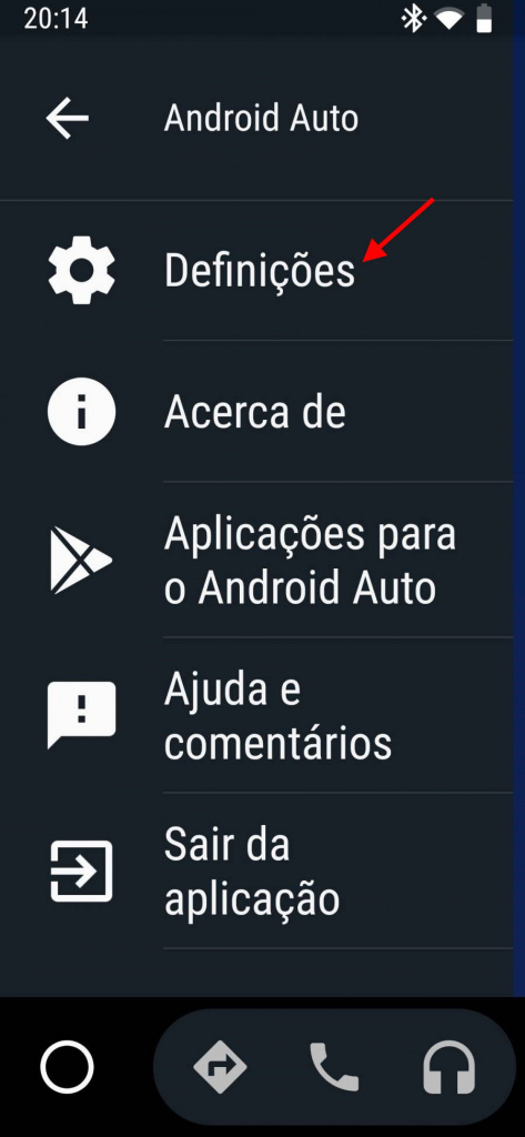 Android Auto apps ecrã Google