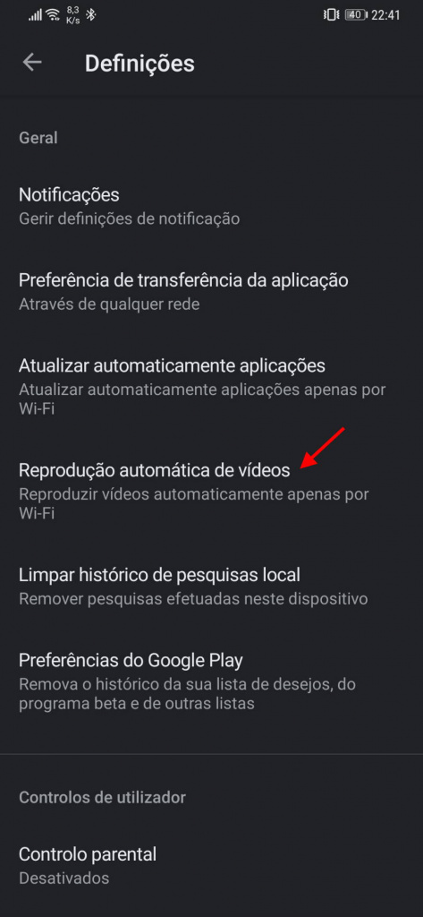 Play Store Android data consumption videos