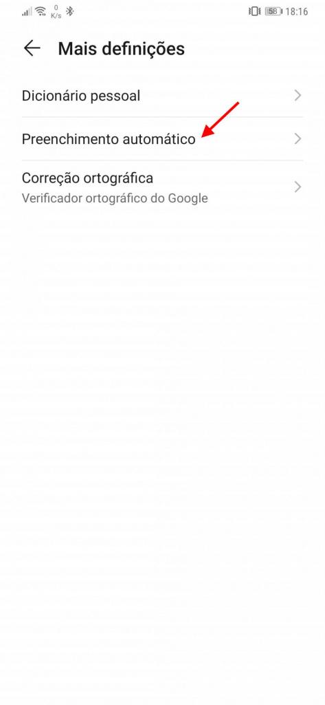 Android Google preenchimento automático passwords