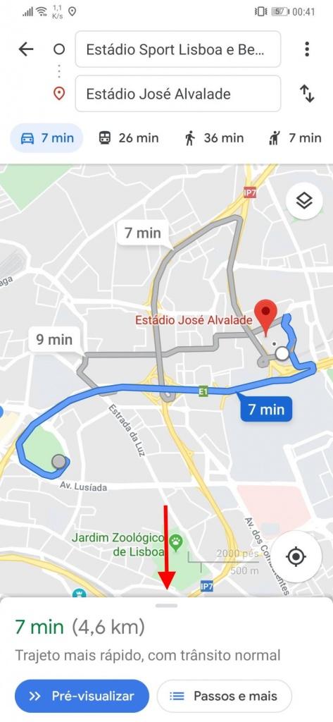 Google Maps trânsito viagem previsões