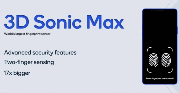 Qualcomm impressão digital segurança 3D Sonic Max