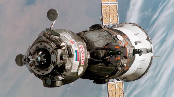 Imagem nave espacial Soyuz da agência espacial da Rússia