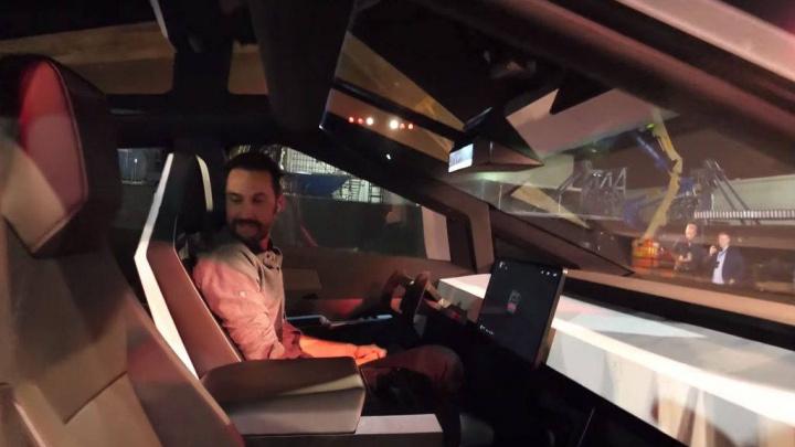 Cybertruck Tesla espelhos retrovisores câmaras