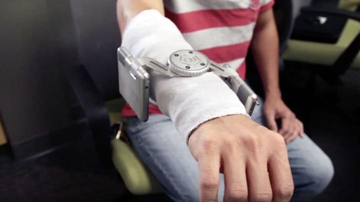 Imagem dispositivo para controlar tremores, como os causados por Parkinson