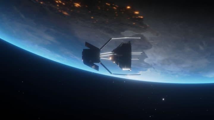 Imagem de conceito de satélite da ESA que vai limpar o espaço