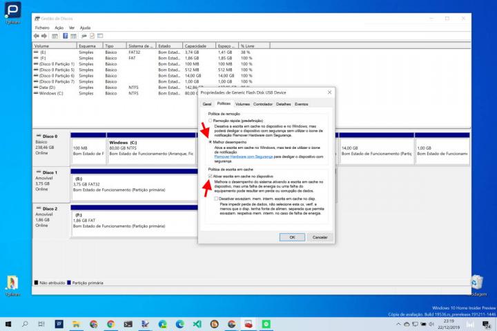 Windows 10 pen USB desempenho Microsoft