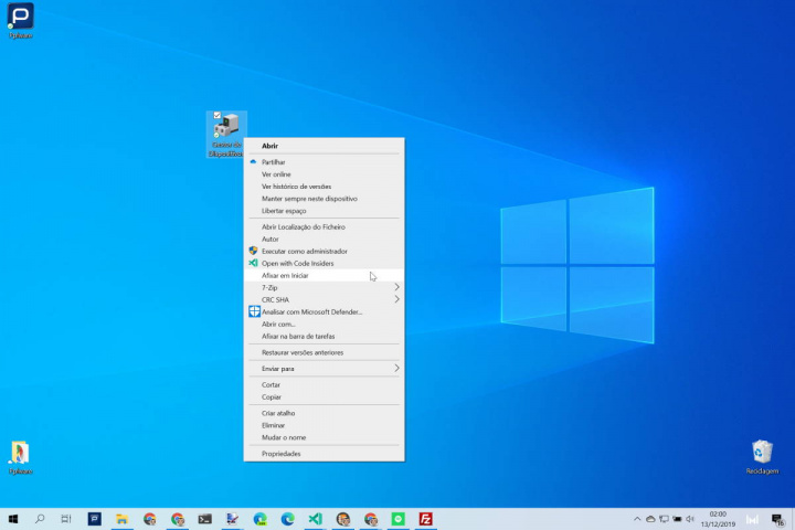 Windows 10 Menu Iniciar Gestor Dispositivos