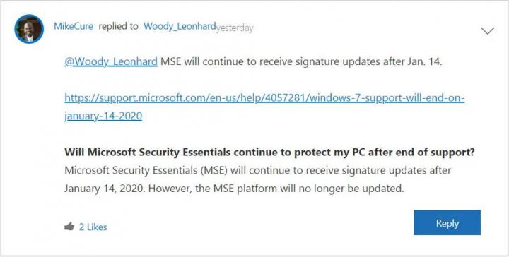 Windows 7 Security Essential segurança proteção Microsoft