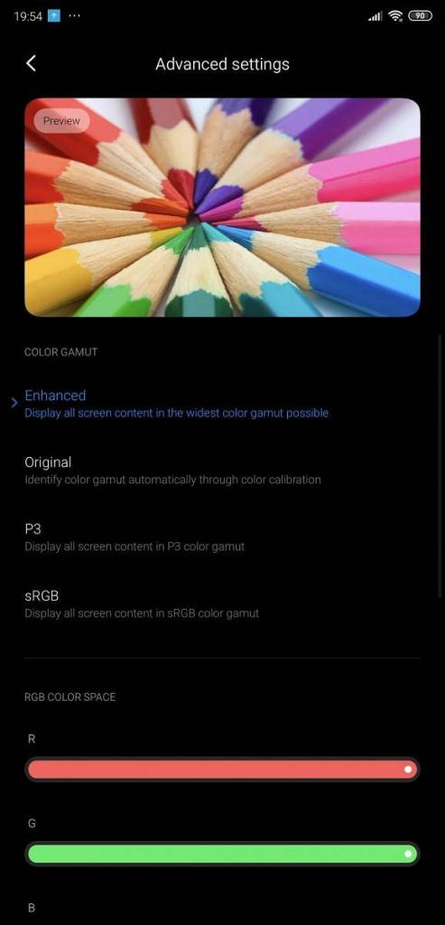 Xiaomi MIUI 11 ecrã smartphones cores